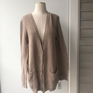 Abound Knit Cardigan in Tan